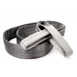 Polyester hijsbanden 4t met versterkte lussen 1m