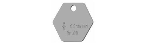 RTI RVS label AISI 316 (G6)